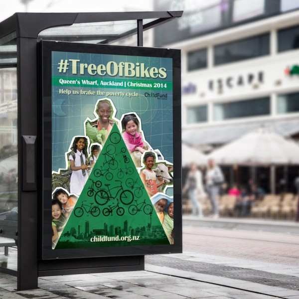 Childfund 'Tree of Bikes'